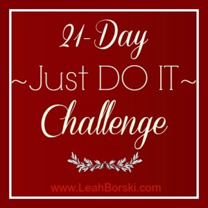 21-Day Just Do It Challenge graphic