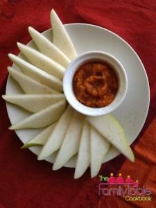 Pumpkin dip with pears