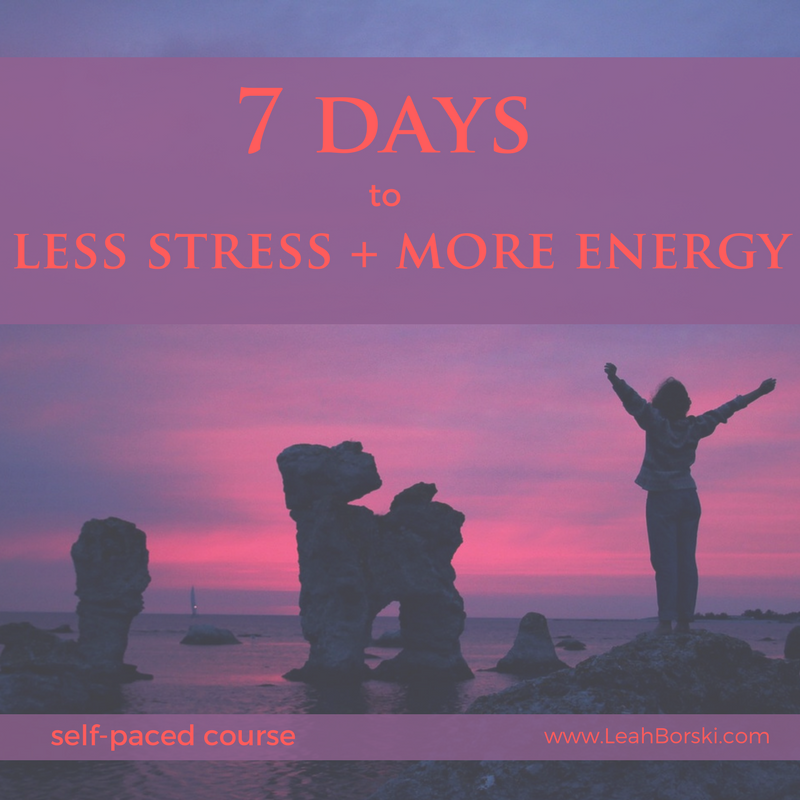 #lessstress #moreenergy #selfpaced #course